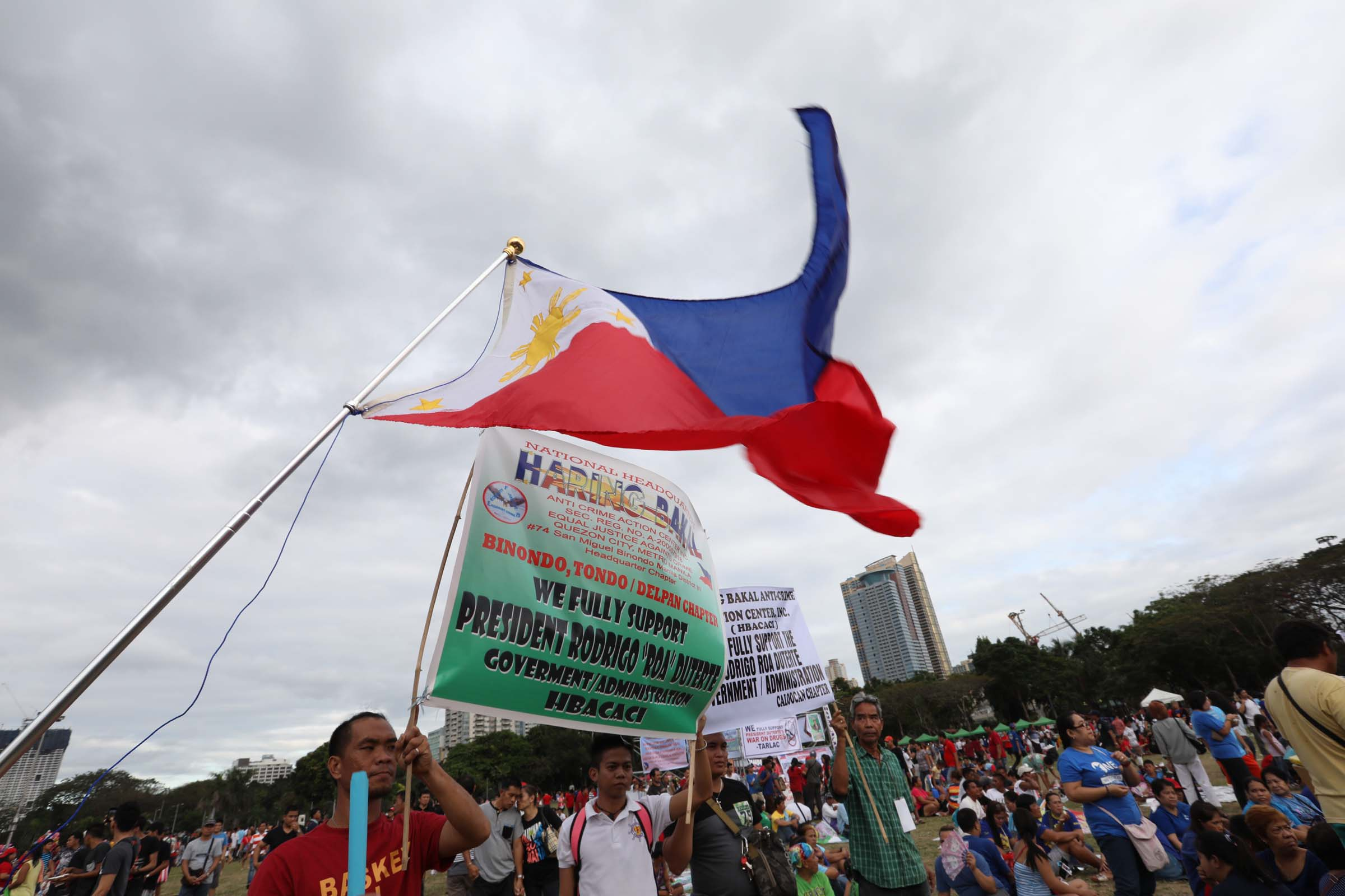 The gathering at Luneta coincided with the commemoration of the 31st anniversary of the EDSA People Power Revolution held at the People Power Monument. (Photo: Avito C. Dalan/ PNA)
