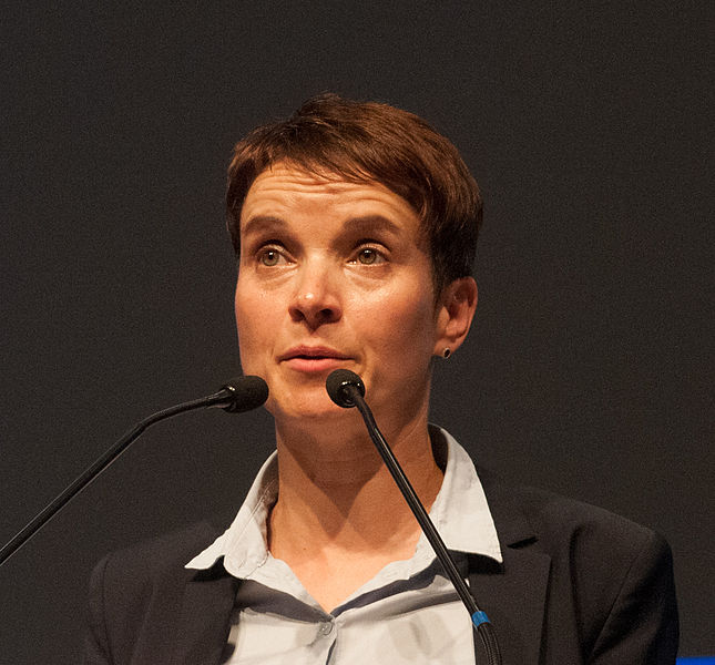 Frauke Petry, the co—leader of Alternative for Germany, travelled to Moscow at the invitation of the Russian capital's city administration to discuss ''co—operation'' with the legislative assemblies of Germany's 16 states, according to a statement. (Photo By Olaf Kosinsky (Own work) [CC BY-SA 3.0 de)