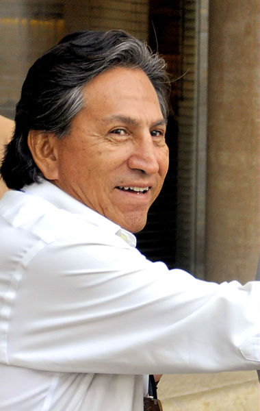 A Peruvian judge on Thursday ordered the arrest of former President Alejandro Toledo on suspicion of taking bribes from a Brazilian construction company at the heart of a region-wide corruption scandal. (Photo by Michael Thaidigsmann (Own work) [CC BY-SA 3.0)