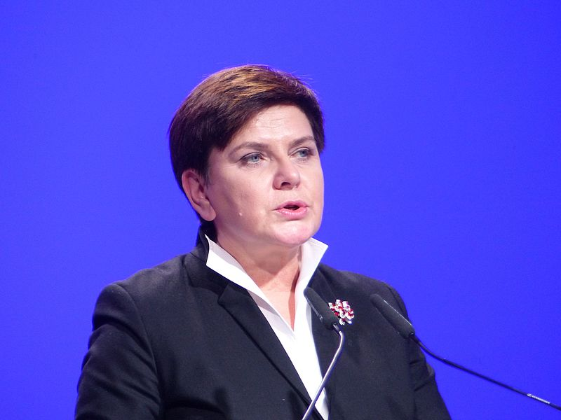 Prime Minister Beata Szydlo suffered injuries in a car crash in southern Poland on Friday and was flown by helicopter to Warsaw for medical tests, even though doctors and her spokesman said that she was not badly hurt. (Photo By Elekes Andor (Own work) [CC BY-SA 4.0)