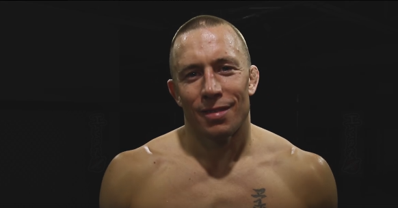 "The video ends with St. Pierre looking into the camera and saying: ""It's official. I'm back."" (Photo: Georges St. Pierre / Facebook)"