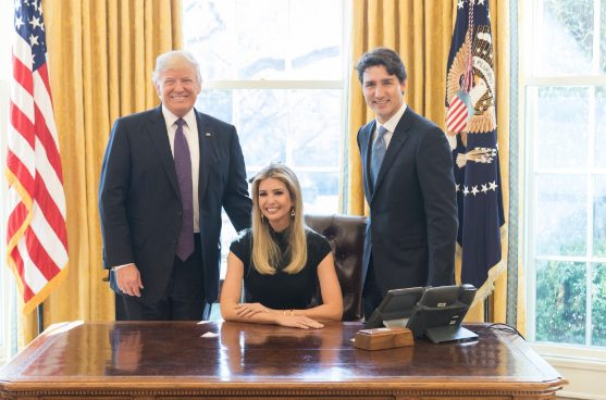 FILE: The prime minister found himself in the unusual position of being asked to comment on his relationship with Donald Trump on a stage at a Washington gala while the president's daughter was seated at a front table, 15 metres away.(Photo: Ivanka Trump/Twitter)