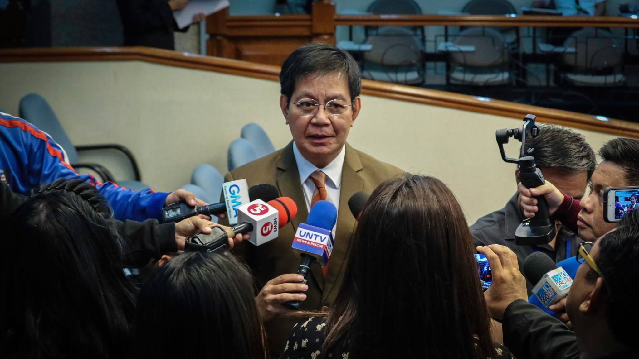 "Sen. Panfilo ""Ping"" Lacson  (Pictured) on Wednesday welcomed the surrender of former Senior Supt. Cesar Mancao II but made it clear that whatever his reason in coming out is not his concern. (Photo: Philippine News Agency)"