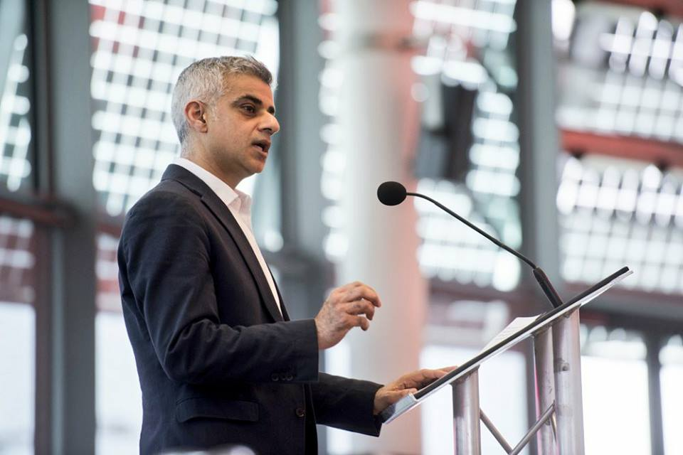 London mayor Sadiq Khan. (Photo from Khan's Facebook page)