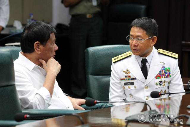"""The Board of Generals has already submitted the names of three-star generals to the President (as early as) last week,"" said Año in an interview late Sunday.  (Photo:  SIMEON CELI JR./Presidential Photo)"