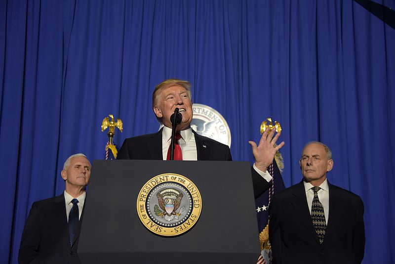 The United States remains an ally and friend for Europe regardless of the president it chooses, but certain economy and migration policies of new US leader Donald Trump give cause for concern (Photo By U.S. Department of Homeland Security (DHS) (President Trump Delivers Remarks to DHS Employees) [Public domain])