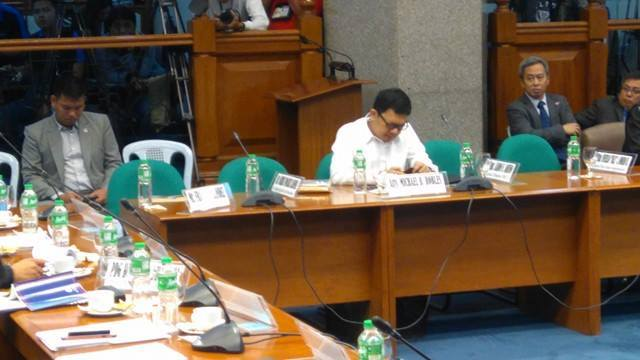 Ex-BI officials cry frame-up (Photo: PTV/Ria Fernandez/Facebook)