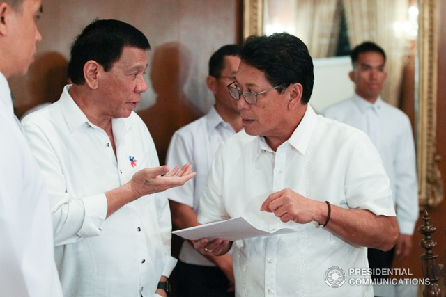 Philippine negotiator Silvestre Bello III said the government move aims to foster talks for a cease-fire accord and a peace pact with New People's Army rebels.  (KING RODRIGUEZ/Presidential Photo)