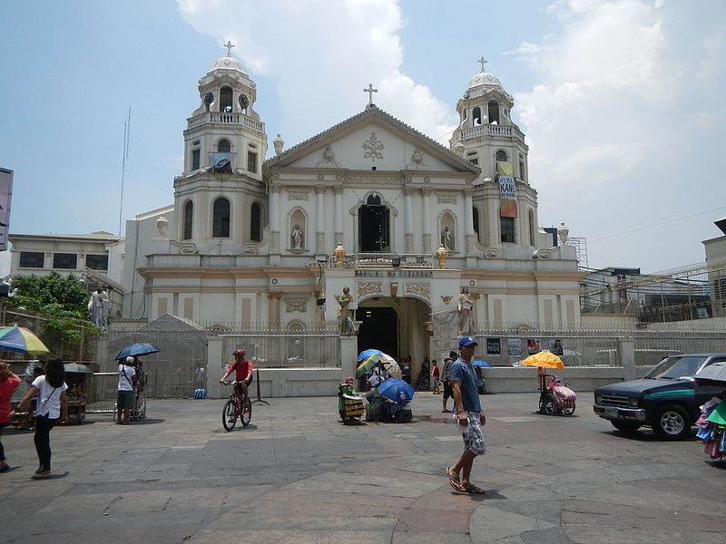 In compliance with a directive from the National Telecommunications Commission, Globe Telecom will temporarily suspend mobile services in areas surrounding Quiapo Church from Maundy Thursday (April 13) to Easter Sunday (April 16), as part of the government's security measures during the Lenten season. (Photo by Judgefloro (Own work) [CC BY-SA 4.0 (http://creativecommons.org/licenses/by-sa/4.0)],)