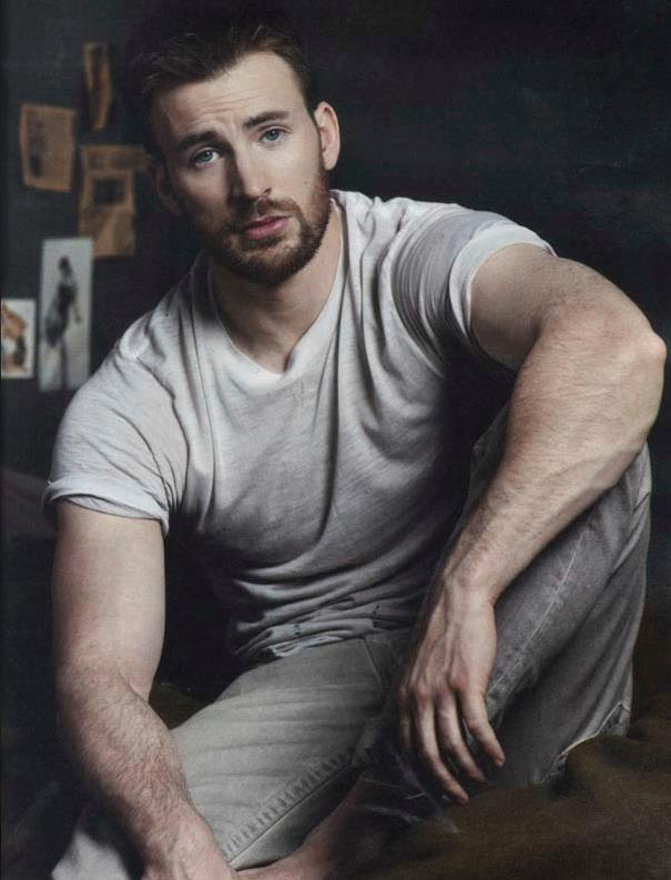 """Chris Evans glows around his new leading lady, who makes no secret of her excitement at hanging out with Captain America. She gushingly talks up his talents (""""He can tap dance!""""), yet is just as quick to keep him honest when he says something questionable. (Photo: Chris Evans/Facebook)"""