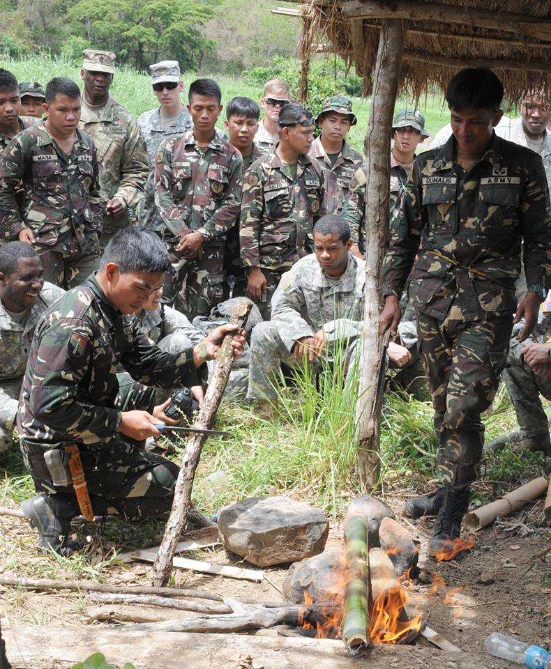 Aside from the latter, Filipino and American troops will also participate in counter-terrorism exercises which is also aligned to the Chief Executive's order to crack down on Abu Sayyaf bandits and lawless elements. (Photo: Exercise Balikatan/ Facebook)