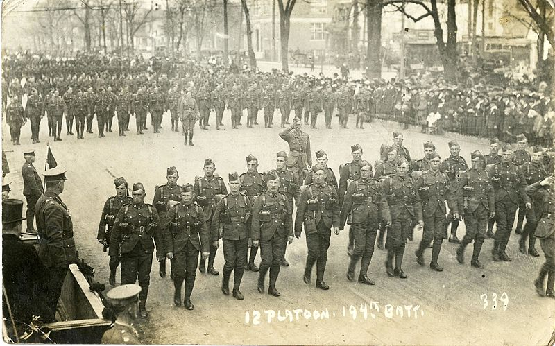 Thursday marks the 100th anniversary of the U.S. entry into World War I, and some of the innovations that were developed or came into wide use during the conflict are still with us today. (Photo by Provincial Archives of Alberta (12 Platoon, 194th Battalion on parade in Edmonton) [No restrictions])