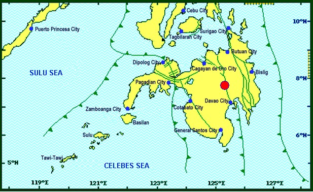 A magnitude 5.5 earthquake of tectonic origin rocked Bukidnon province early Wednesday (April 12). (Photo: Phivolcs _DOST Mindanao/Facebook)