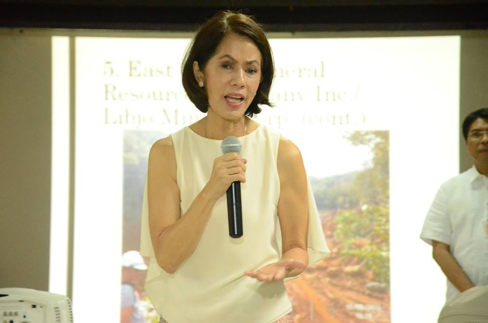 Lopez released the statement after BusinessWorld said an exchange over mining ensued this week between her and this paper's reporter Janina Lim who was with a colleague at the time. (Photo: Gina Lopez/ Facebook)