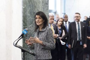 "FILE: She pointed out that the UN Security Council meeting without the decision to boost the international pressure on Pyongyang would be ""of no value."" (Photo: Nikki Haley/Facebook)"