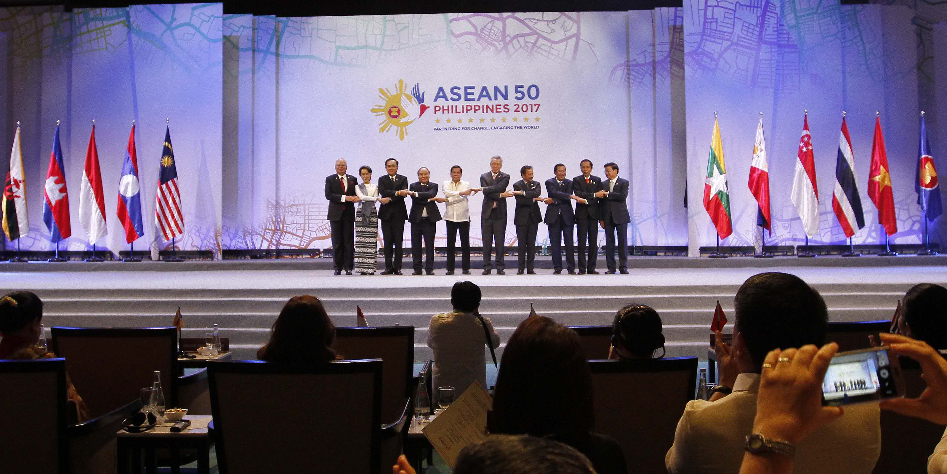 ASEAN Leaders welcomed the latest development on banking integration in the region, citing that this will further ease trade facilitation within the 10-nation bloc. (Photo: Avito C. Dalan/ Philippine News Agency)