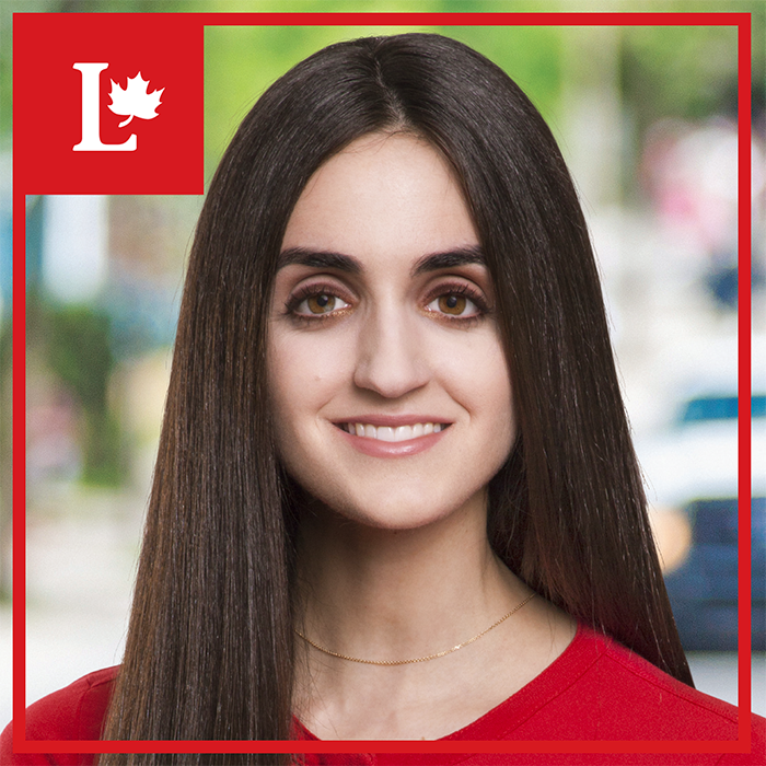 Emmanuella Lambropoulos, a 26-year-old high school teacher, stunned many when she won the Liberal nomination contest in Saint-Laurent, defeating former Quebec cabinet minister Yolande James. (Photo: Emmanuella Lambropoulos/ Facebook)