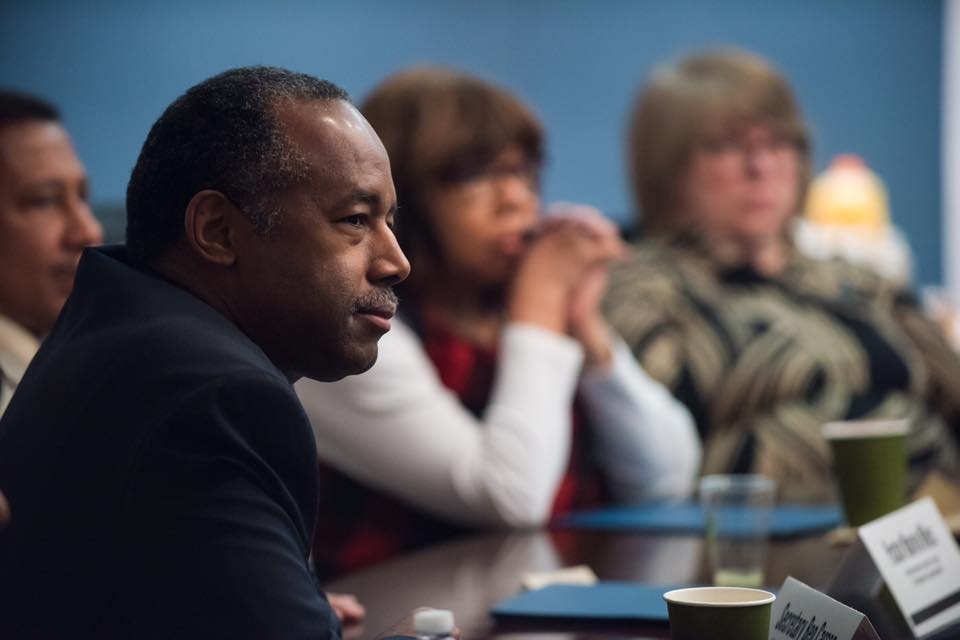 """Housing and Urban Development Secretary Ben Carson said Wednesday he expects to release a policy agenda within the next few months that delivers """"bang for the buck,"""" partly by encouraging more private-sector collaboration. (Photo: Secretary Ben Carson/Facebook)"""
