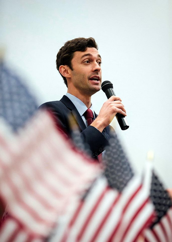 "President Donald Trump on Monday attacked his political enemies seeking an upset in Georgia's special congressional election, blasting the leading Democratic candidate as a ""super liberal"" who ""wants to protect criminals, allow illegal immigration and raise taxes!"" (Photo: Jon Ossoff/Facebook)"