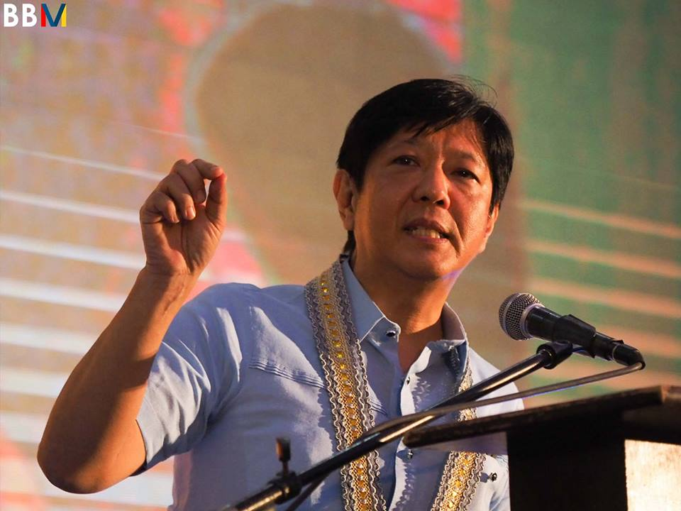 Last March 21, the PET ordered Marcos to pay PHP66,223,000 for the 132,446 precincts for his election protest against Robredo to proceed. (Photo: Bongbong Marcos/ Facebook)