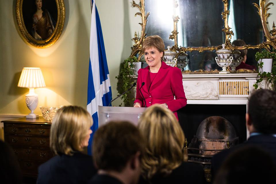 Scotland's leader Nicola Sturgeon, who has been a critic of Donald Trump, said Wednesday she would agree to meet the U.S. president and try to build on the already strong relationship between Scotland and the United States. (Photo: Nicola Sturgeon/Facebook)