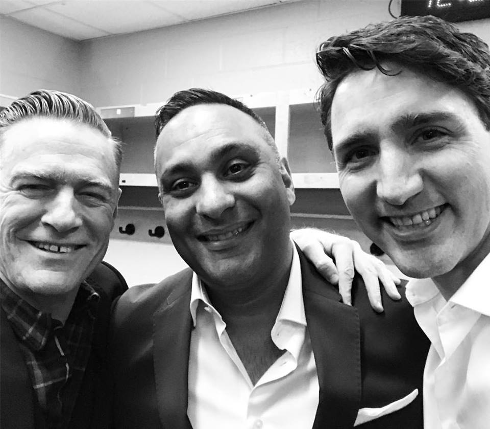 Prime Minister Justin Trudeau asked for it, Bryan Adams delivered. (Photo: Bryan Adams/ Facebook)