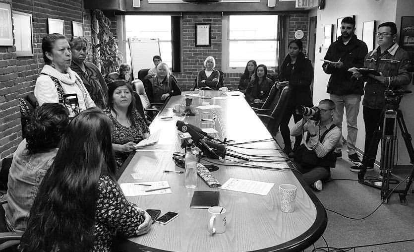 The Coalition on Missing and Murdered Indigenous Women and Girls in British Columbia says it is worried about recent media reports that said the inquiry only had about 100 family members or survivors in its database. (Photo: BC Federation of Labour/ Facebook)