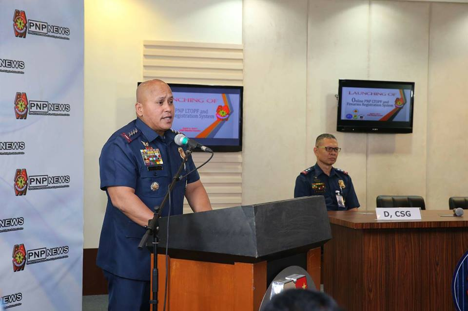Dela Rosa, in a press conference in Camp Crame, Quezon City, said their campaign against hard drug traffickers will continue even if there will be a new DILG chief. (Photo: Philippine National Police/Facebook)