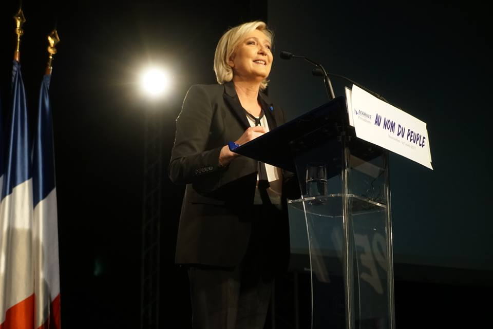 Marine Le Pen, a leading contender in France's presidential race, has prompted an outcry by denying that the French state was responsible for the roundup of Jews in World War II. (Photo: Marine Le Pen/Facebook)