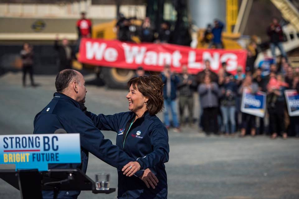 British Columbia's party leaders levelled criticism at each other's spending promises as they spent Good Friday campaigning. (Photo:  Christy Clark/Facebook)