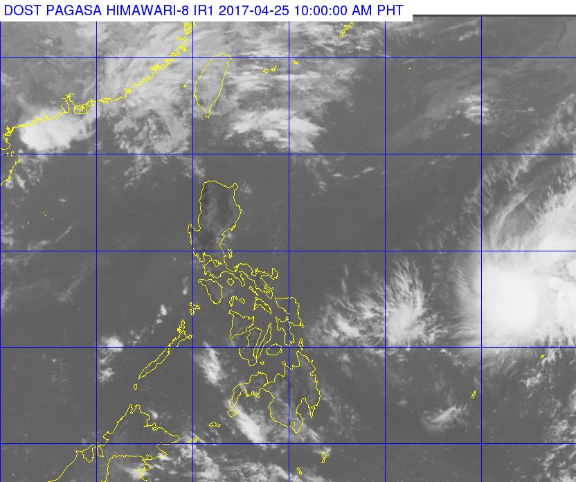 Moderate to strong winds blowing from east will prevail over northern and central Luzon, and the coastal waters along these areas will be moderate to rough (Photo: Dost_pagasa/ Facebook)
