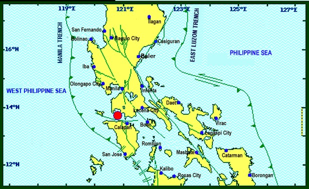 The town of Tingloy, where the epicenter of the tremor was traced, experienced 32 aftershocks as of 5 a.m. Wednesday, according to the Philippine Institute of Volcanology and Seismology (Phivolcs). (Photo: PHILIPPINE INSTITUTE OF VOLCANOLOGY AND SEISMOLOGY)