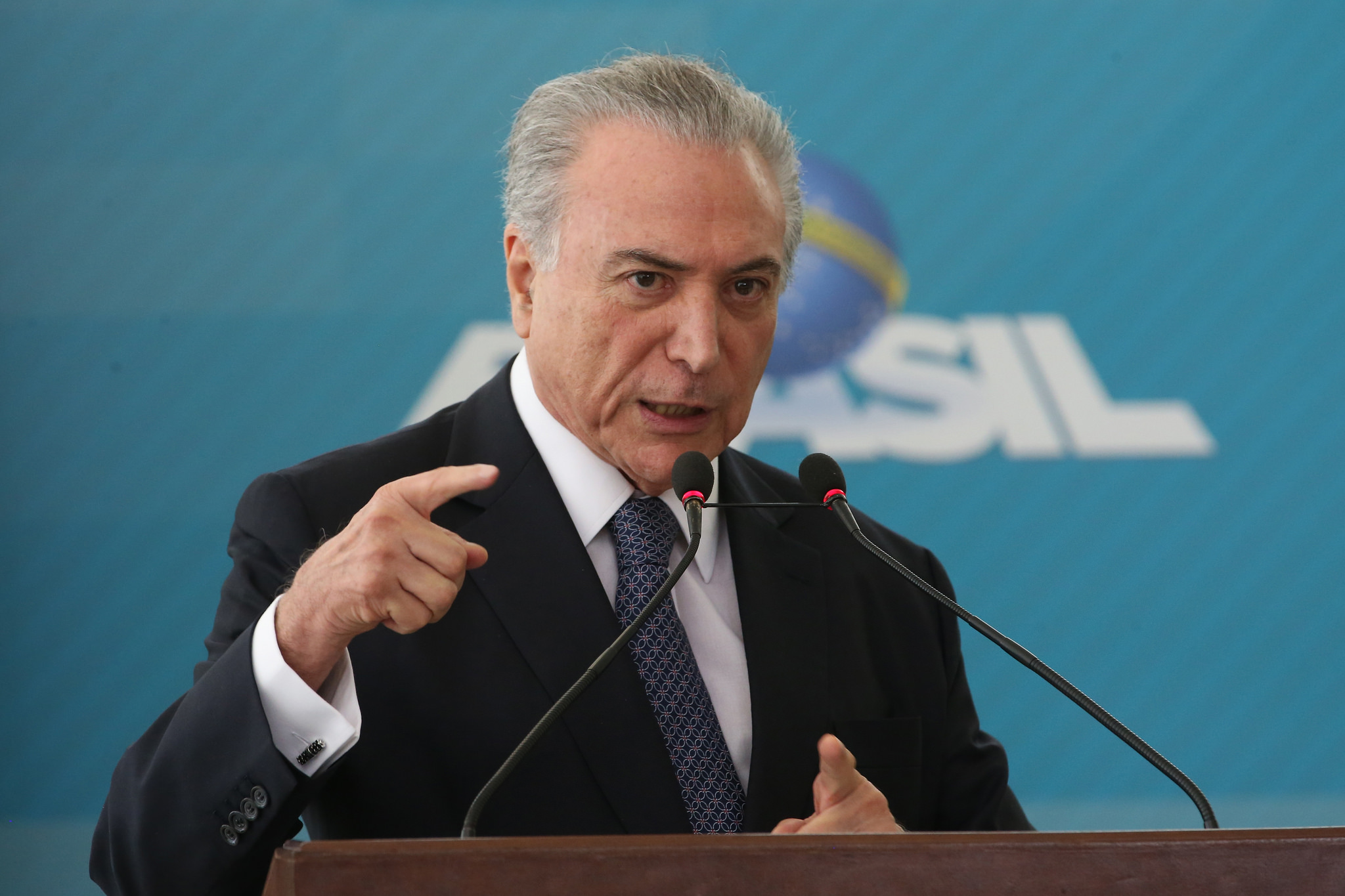 Michel Temer is not under investigation since, as president, he has temporary immunity from any crimes committed before he took office. (Photo by Agência Brasil Fotografias/Flickr, CC BY 2.0)