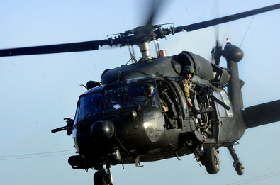 A Black Hawk helicopter crashed onto a golf course in Maryland during a routine training flight Monday, killing one crew member and injuring the two others on board, the U.S. Army said. (Photo: The U.S. Army/Flickr)
