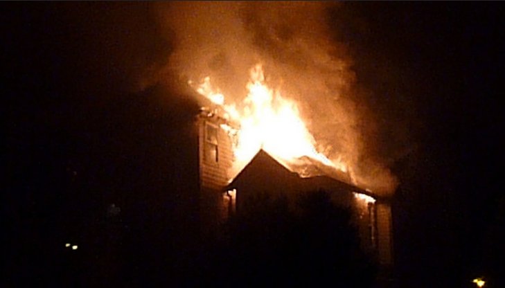 Cpl. Jesse O'Donaghey with Kelowna RCMP says in a release that emergency crews were called for reports of a fire early Saturday morning and they arrived to find the home fully engulfed. (Photo: albertstraub/ Flickr)