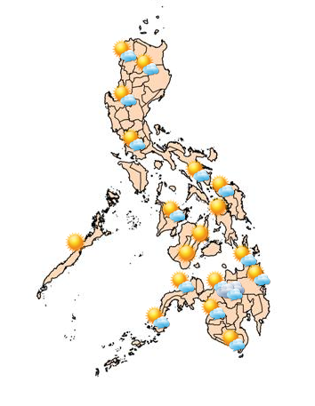 Also, PAGASA said the ridge of a high pressure area, which brings warm weather, still extends across Luzon. (Photo: PAGASA)