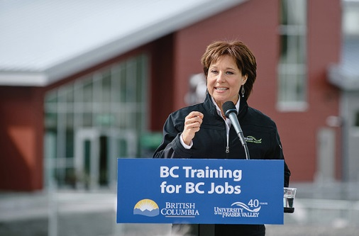 "Greedy ""lumber barons"" in the United States are to blame for the softwood lumber dispute, and their push to choke off the supply of disputed Canadian timber will only make it harder for the average American to buy a home, British Columbia Liberal Leader Christy Clark said Friday. (Photo: University of the Fraser Valley/Flickr)"