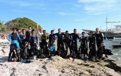 Just recently, 12 boys and four girls completed courses for dive master (DM), advanced open water (OPW) and emergency first response (EFR), which brought them a step closer to becoming professionally trained divers, the Department of Tourism (DOT) said. (Photo: Philippine News Agency)