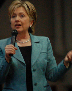 Hillary Clinton told an audience of LGBT advocates Thursday night that the progress they've achieved in recent years may not be secure under the Donald Trump administration, and urged them to keep fighting. (Photo: kyle tsui/Flickr)