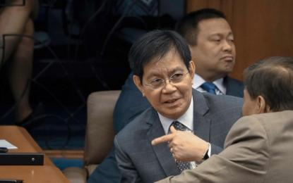 """ICC case vs. PRRD, et al is dustbin bound if two perjured witnesses, Lascañas and Matobato are the only ones testifying,"" Lacson said in his official Twitter account. (Photo: Philippine News Agency)"