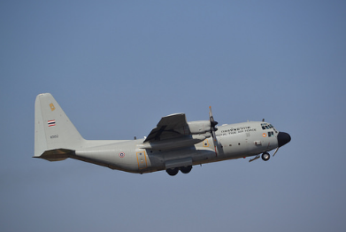 In line with ongoing efforts to ensure that all of its assets are flyable and mission-ready at all times, the Philippine Air Force (PAF) is allocating the sum of PHP11, 347,000 for the acquisition of spare parts needed for the maintenance of one of its Lockheed C-130H/T cargo aircraft. (Photo; Alec Wilson/Flickr)