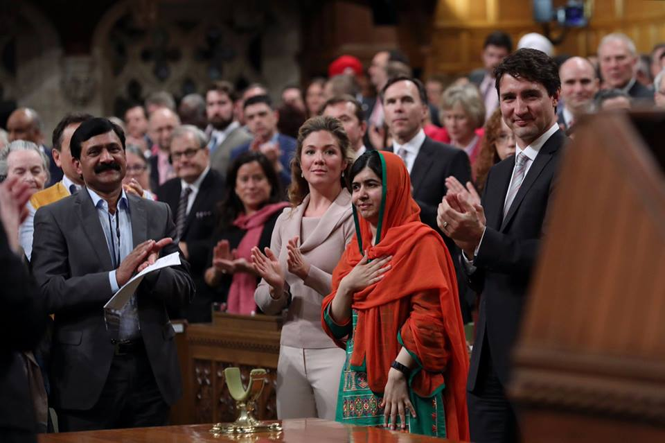 """My party and I stand with Malala, and I hope you agree with me in making girls' education Canada's central legacy project for the G7 presidency,"" Interim Conservative leader Rona Ambrose wrote in a letter to Prime Minister Justin Trudeau. (Photo: Justin Trudeau/Facebook)"