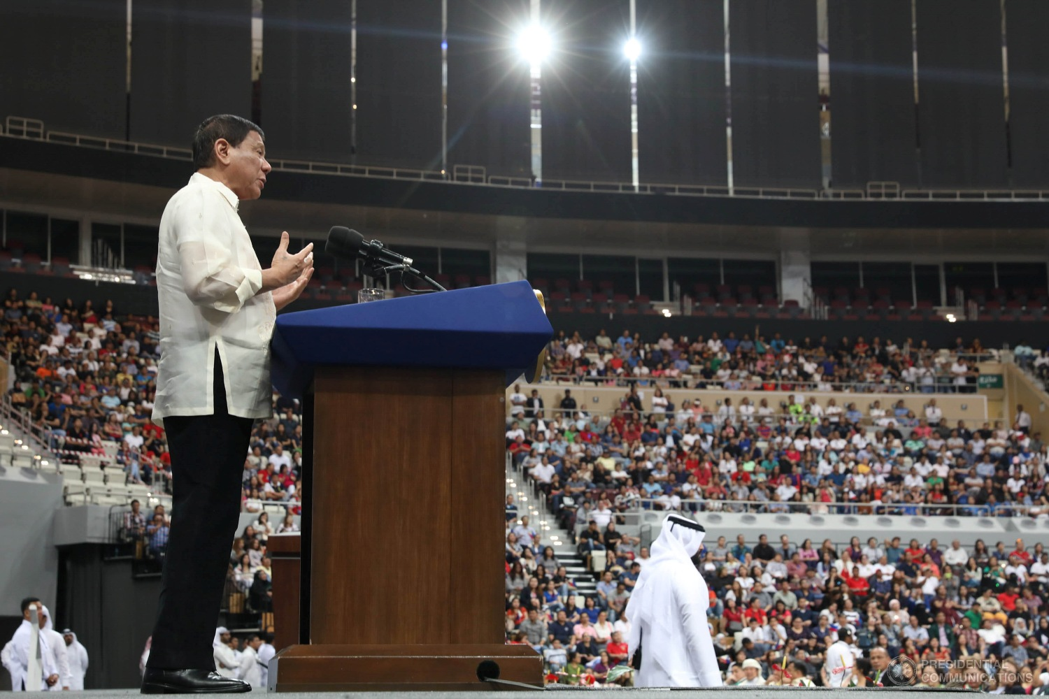 """The offer of the President was a welcome move and we thank the Commander-in-Chief for this. Hopefully, this will encourage informants and other concerned citizens to help expedite the arrests of these bandits,"" Padilla said. (Photo: TOTO LOZANO/Presidential Photo)"