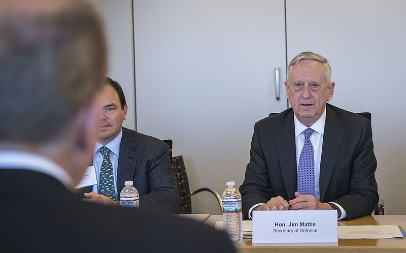 Defence Secretary Jim Mattis is looking to the Middle East and North Africa for broader contributions and new ideas to fight Islamic extremism as the Trump administration fleshes out its counterterrorism strategy. (Photo by Jim Mattis (SD attends Joint Associations Meeting) [Public domain])