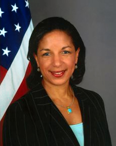 Susan Rice, Barack Obama's national security adviser and the latest target for Donald Trump's embattled defenders, firmly denied on Tuesday that she or other Obama officials used secret intelligence reports to spy on Trump associates for political purposes. (Photo by U.S. State Dept. (http://usun.state.gov/leadership/c31461.htm) [Public domain],)