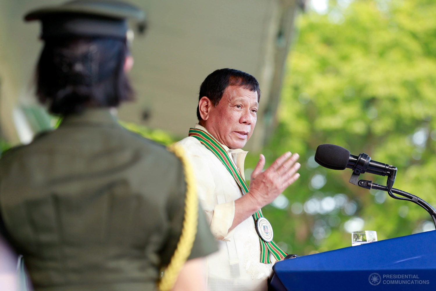 """""""There will be five in all,"""" the President said in a speech Wednesday during the Grand Harvest Festival here. (Photo: REY BANIQUET/Presidential Photo)"""