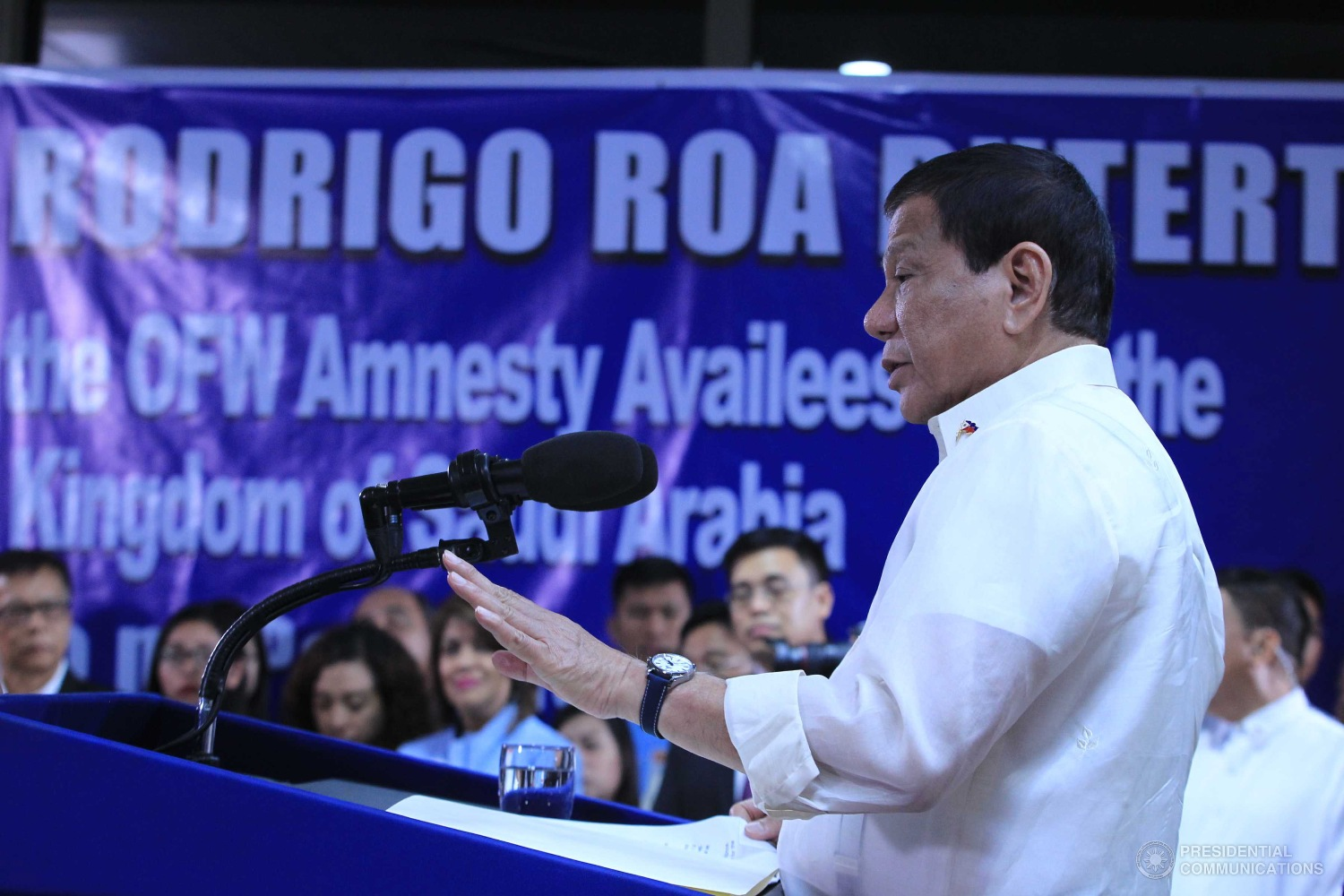 President Rodrigo Duterte will hold a dialogue with employers and workers on April 30, a day before the country's observance of Labor Day, the Department of Labor and Employment (DOLE) announced on Wednesday. (Photo: ACE MORANDANTE/Presidential Photo)