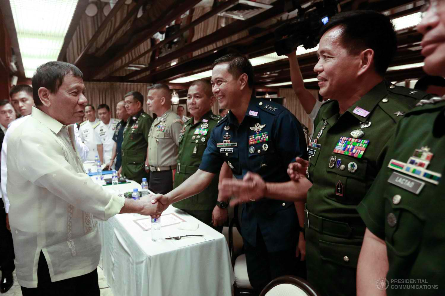 """Since the establishment of the Philippine Army 120 years ago, our history is replete with tales of our soldiers' great sacrifices and significant victories to best protect our people and our national sovereignty,"" the President said in his speech at the Philippine Army headquarters in Fort Bonifacio on Tuesday, April 4. (Photo: REY BANIQUET/Presidential Photo)"