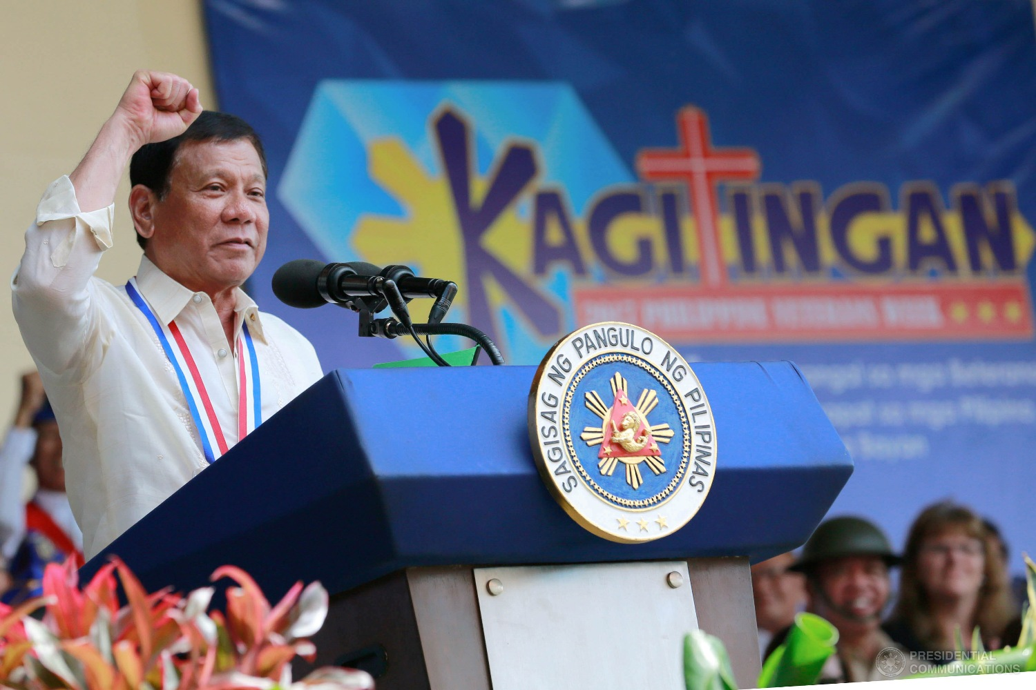 Malacañang on Tuesday said the latest Pulse Asia survey showing President Rodrigo Duterte garnering the highest approval and trust rating among the country's top officials has validated the people's deep appreciation towards the President's policies on drugs, criminality and corruption. (Photo: REY BANIQUET/Presidential Photo)