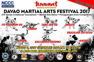 The Davao Martial Arts Festival 2017 will be held on August 5 at the Kadayawan Hall of the NCCC Mall featuring the exciting various martial arts from all over the world. (PNA PHOTO)